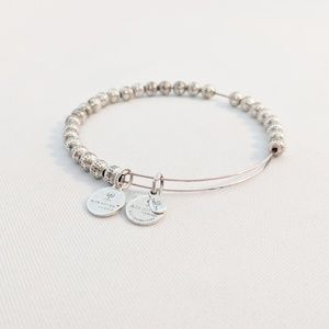 Alex and Ani Silver Texture Beaded Bracelet